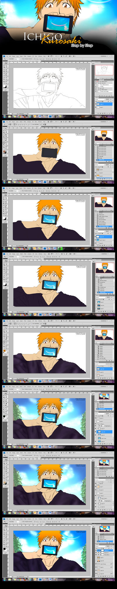 Ichigo Mask Step by Step by naruble