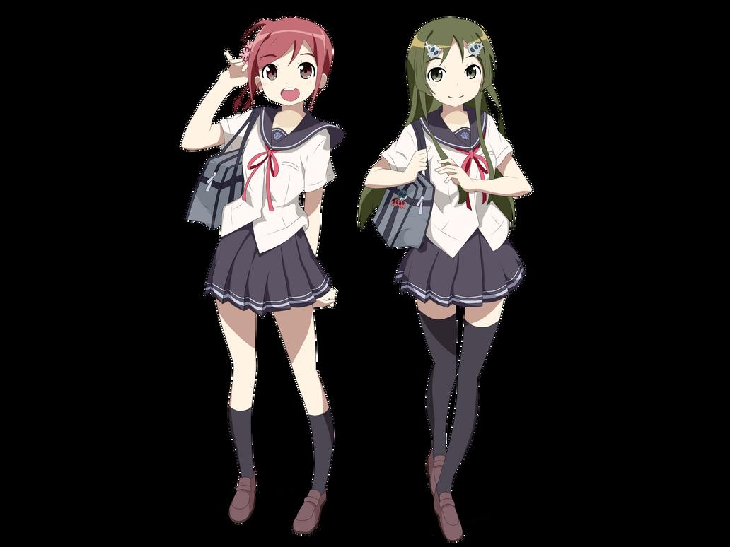 Masaoka Azuki and Kobayashi Matcha [Project 575] by iloveanime19514425