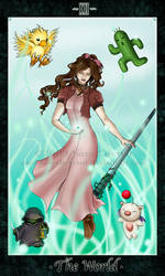 Aerith - The World by LadyChestnut
