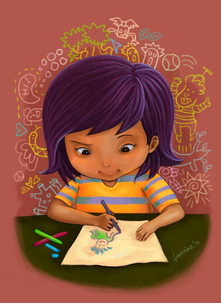 Little Miss Artist by lorain05