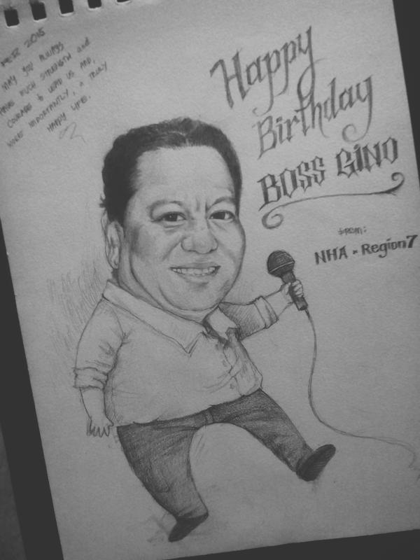 Birthday Caricature by lorain05
