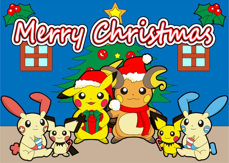 merry christmas pokemon