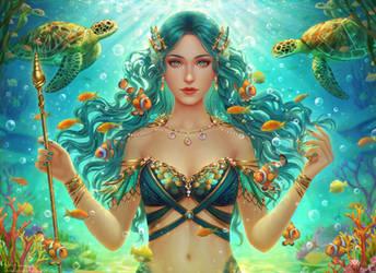 Vellamo - Goddess of the Sea by Midorisa