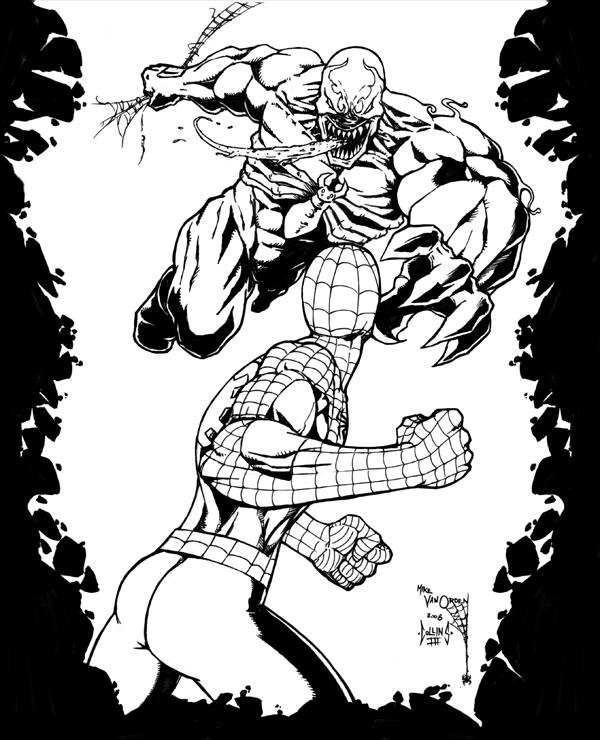 Venom and Spidey by DW-DeathWisH