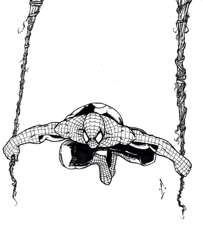Spideys hanging around by DW-DeathWisH