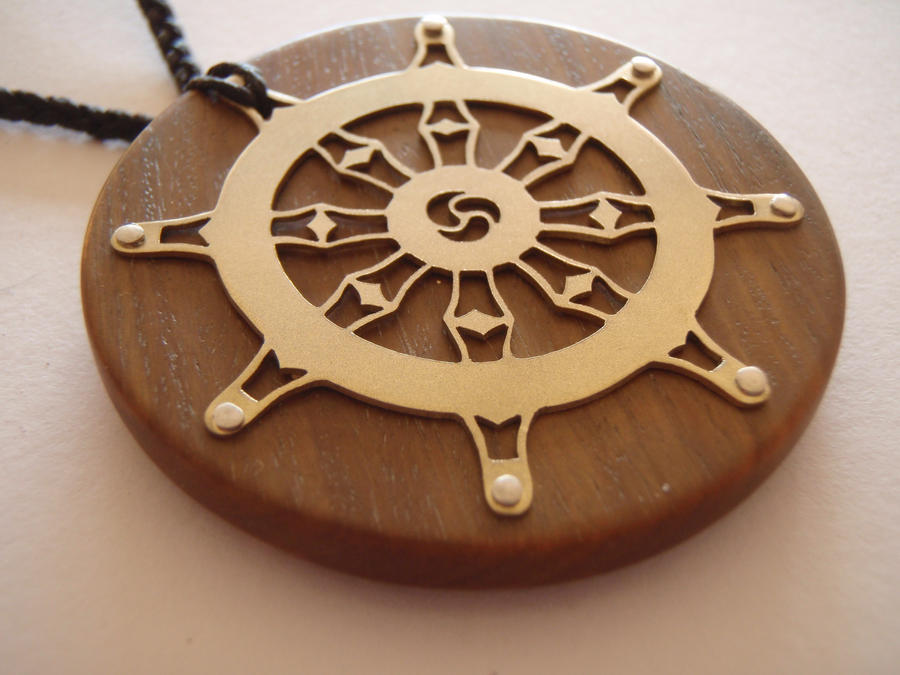 Dharma wheel pendant by jeanburgers on deviantart dharma wheel pendant by jeanburgers aloadofball Gallery