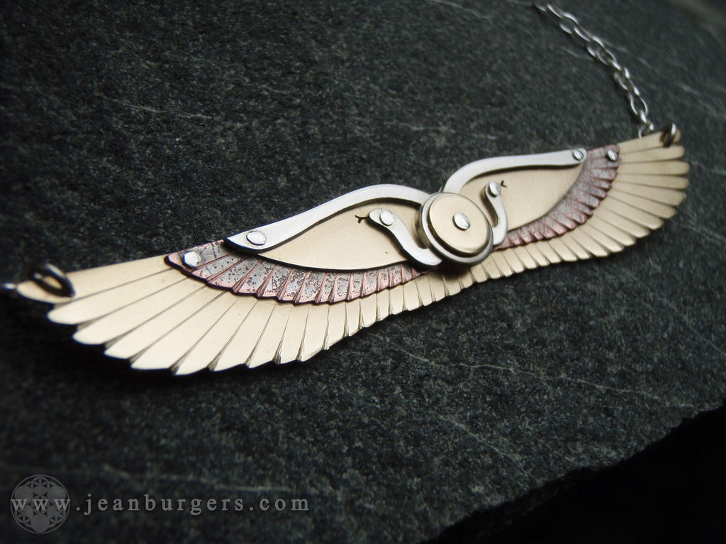 winged personalised be necklace sterling silver hallmarked can heart pendant