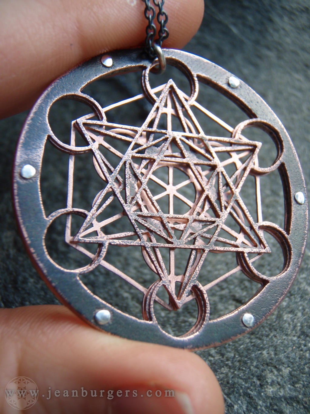 Metatron 39 s cube multilayered pendant by jeanburgers on for Metatron s cube jewelry
