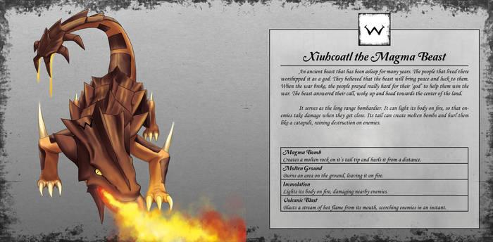 Xiuhcoatl the Magma Beast