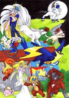 Pokemon meets DissidiaFF1 by SoraNoRyu