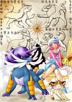 Pokemon meets Final Fantasy 5 by SoraNoRyu