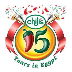 chili's 15 years logo
