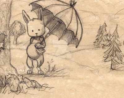RabbitUmbrella jfSketch by Justturtle