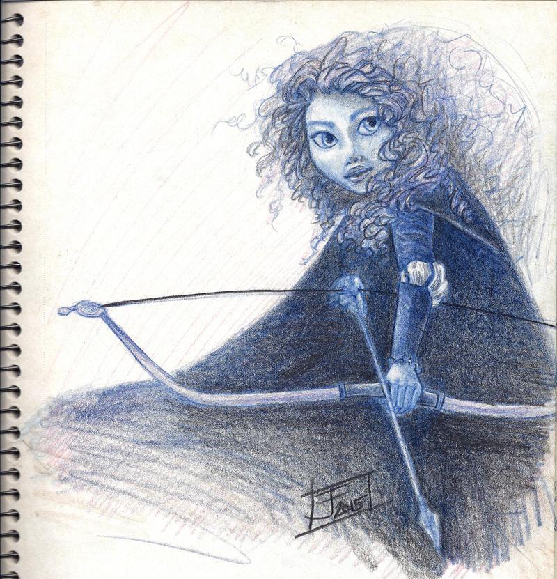 Merida Sketch JFleming2015 by Justturtle