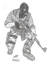 AK47 Terrorist by Hum4n01dTyph00n
