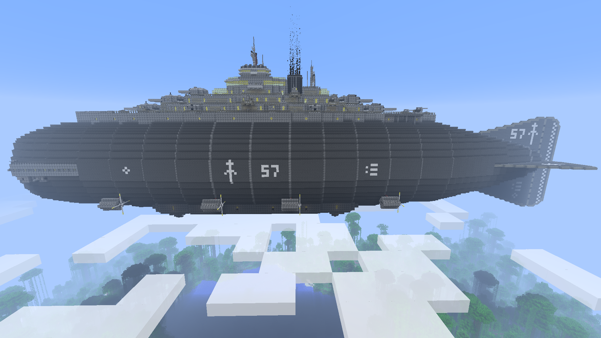 Minecraft Destroyer Class Airship 448954509 on digital blueprints of houses