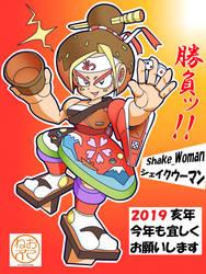 Megaman Shake Woman by NE0MARU
