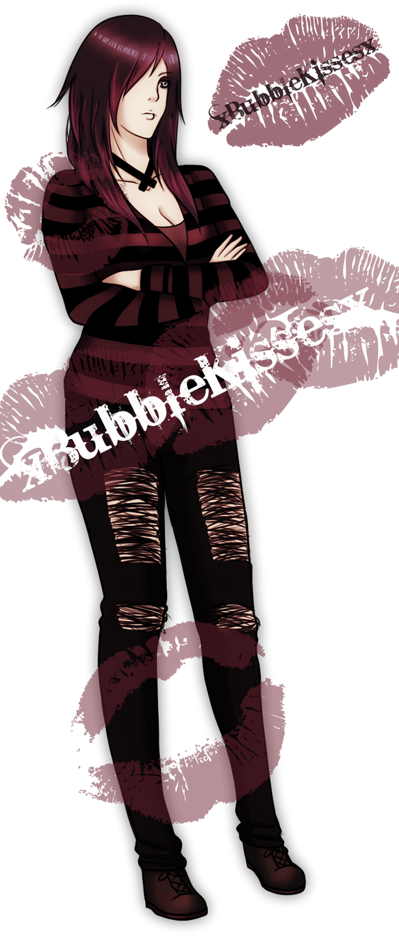 Original Emo Adoptable Auction (SOLD) by xBubbleKissesx