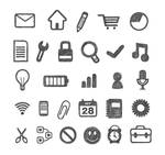 Free Hand Traced Icon Set