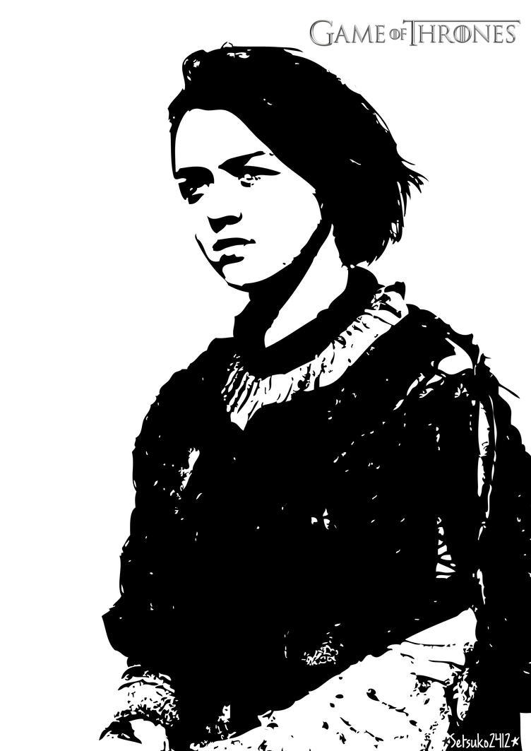 Arya Stark by setsuko2412 on DeviantArt
