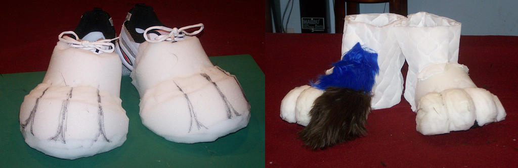Feet paws WIP by MrEd301
