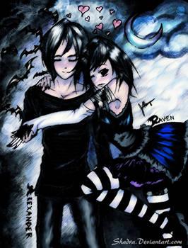 Vampire Kisses_Raven and Alex