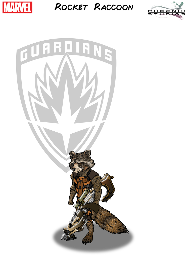 Star Lord And Rocket Raccoon By Timothygreenii On Deviantart: Rocket Raccoon By PhoenixStudios91 On DeviantArt