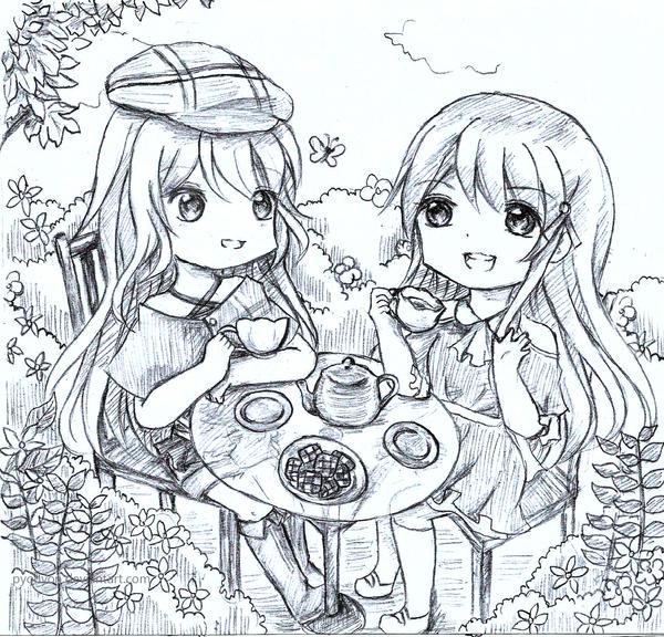 :C: Teatime by Pyonyon