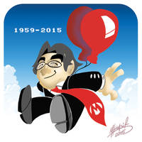 Satoru Iwata by SuperManosBros