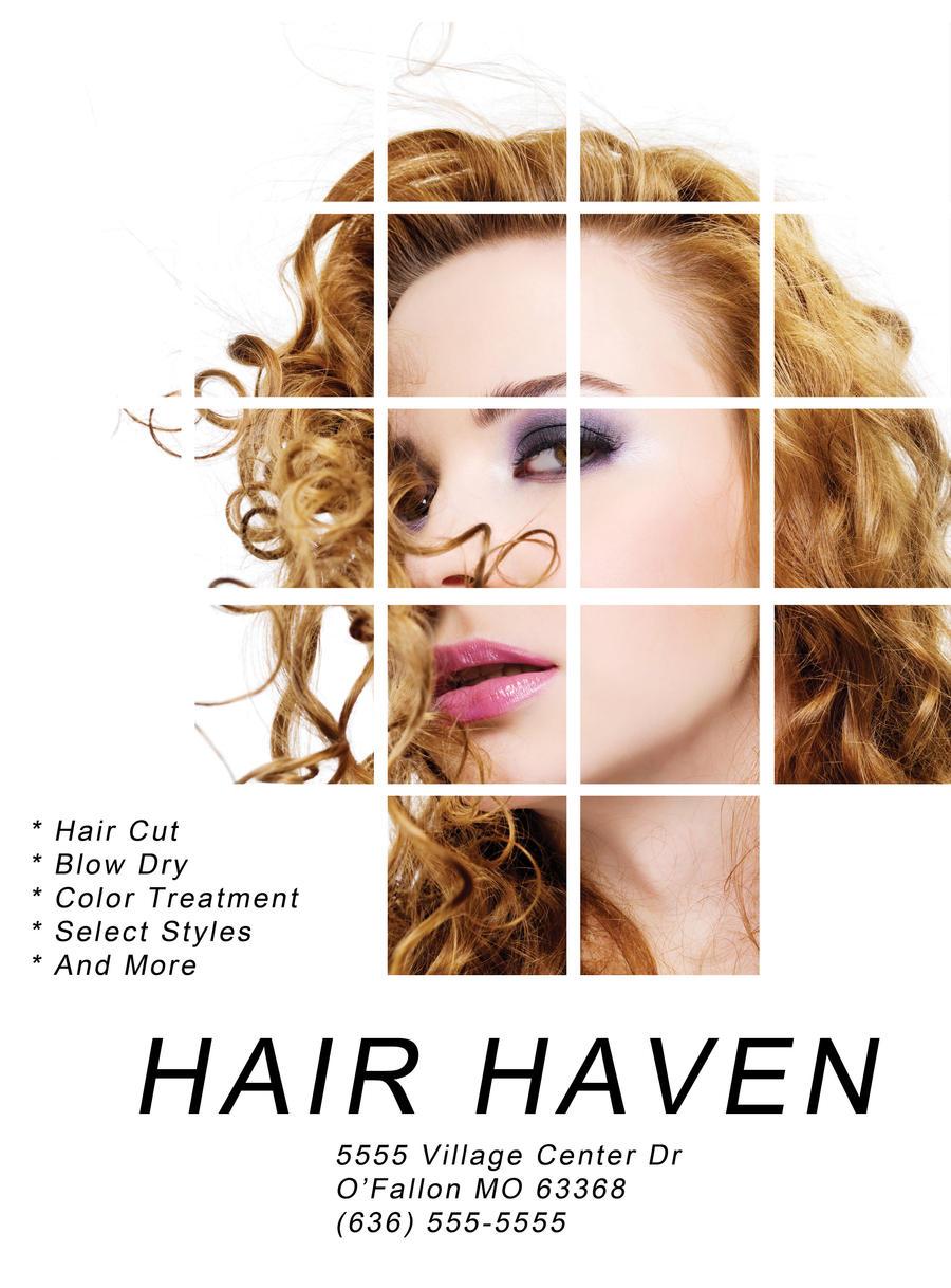 Hair Salon Flyer by CStrauss on DeviantArt