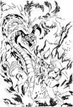 Link vs Volvagia the Subterranean Lava Dragon