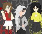 [AT] Willow, Einna, Laura by CupcakeUnicorn920