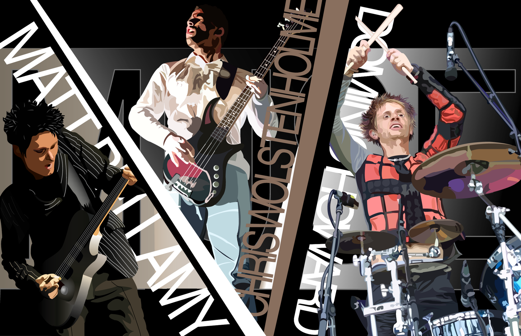 Muse group vector by sharkaholic watch digital art vector people 2004