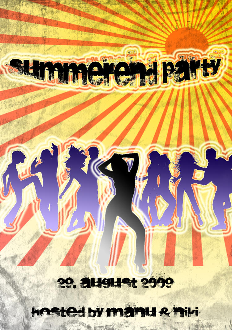 end of summer party flyers recet productoseb co