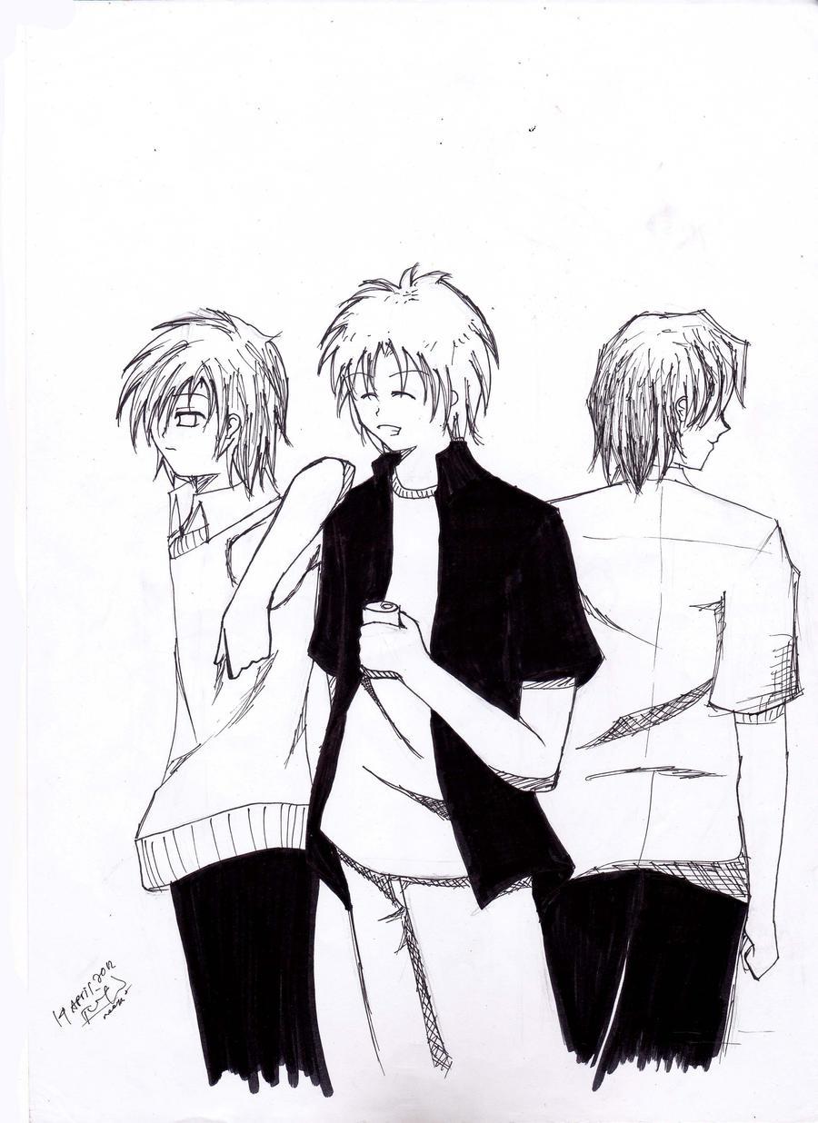 Anime Boy Friends Doodle By Japanadya On Deviantart Anime Friends Boy And
