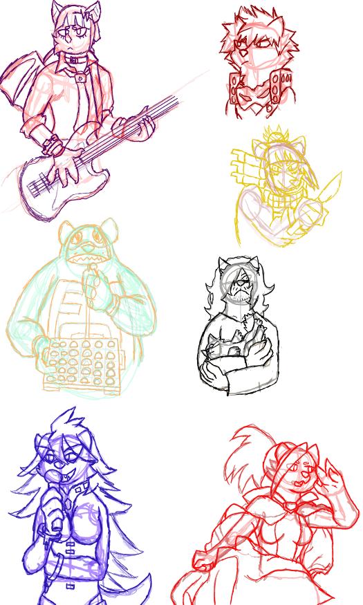 My Furry Academia Sketches