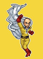 Saitama Sprite (One Punch Man) by LaWea888