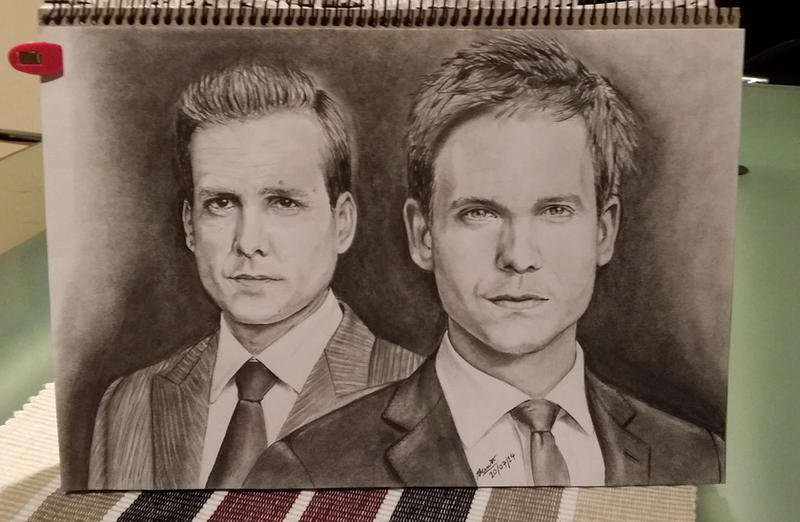 Harvey Specter And Mike Ross By Aurormish On DeviantArt