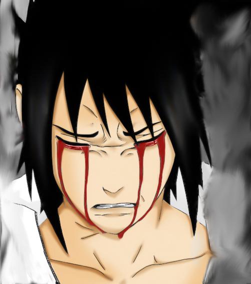 Sasuke Crying Blood Susuke Blood Tears by ...