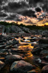 Great Falls Sunset 1 by CharlesWb