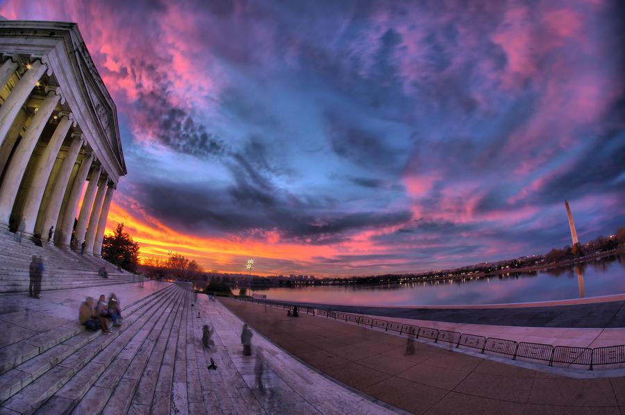 Crazy DC Sunset by CharlesWb