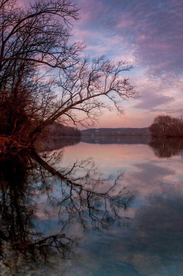 Great Falls Sunset 1 by CharlesWb
