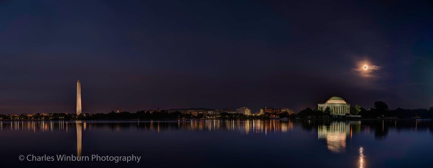 Tidal Basin Moonrise by CharlesWb