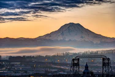 Tacoma Christmas Sunrise by CharlesWb