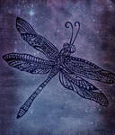 Zentangle dragonfly
