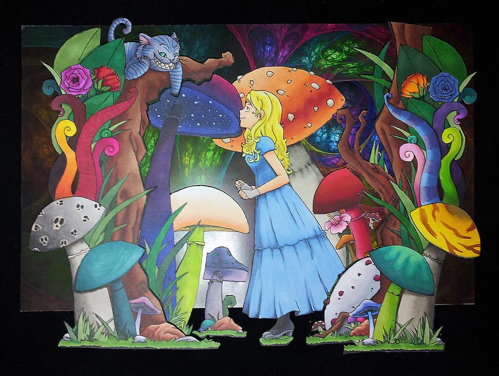 [Shadowbox] Alice in Wonderland by Rhedrin