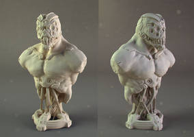 cyborg bust resin shot by OmrZrn