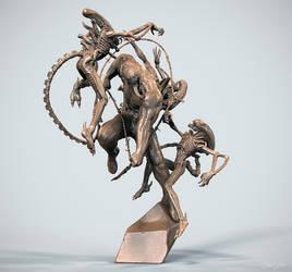 Venom vs alien05 by OmrZrn