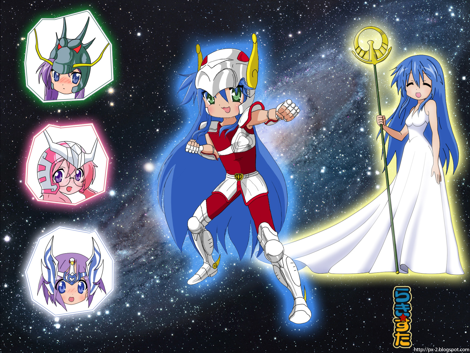 Cross Over Lucky_Star_x_Saint_Seiya_by_px_2