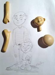 Bonecos em Massinha